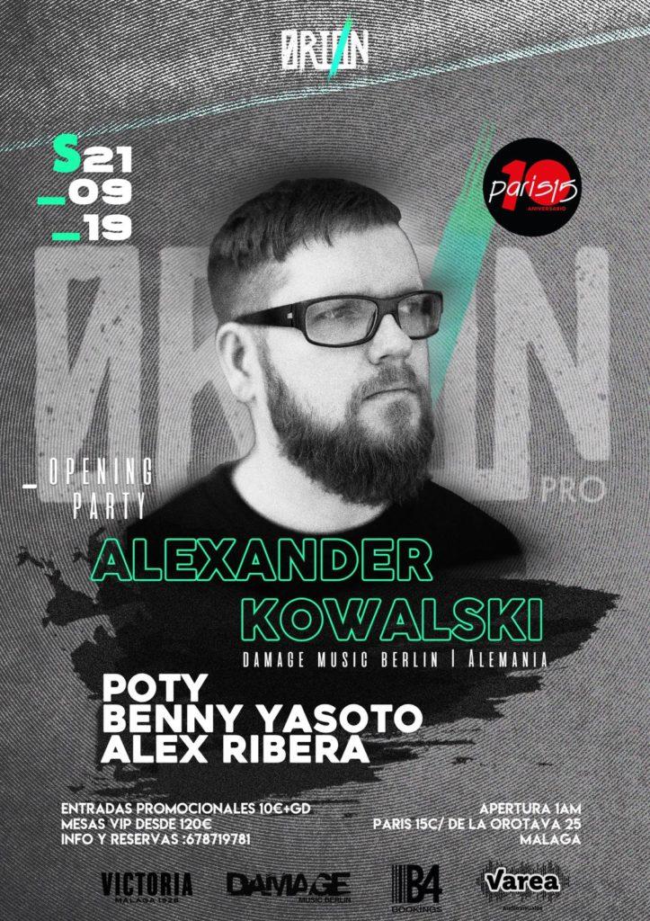 Alexander Kowalski - Orion Opening Party