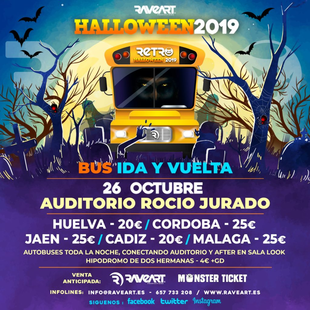 Bus Retro Halloween 2019