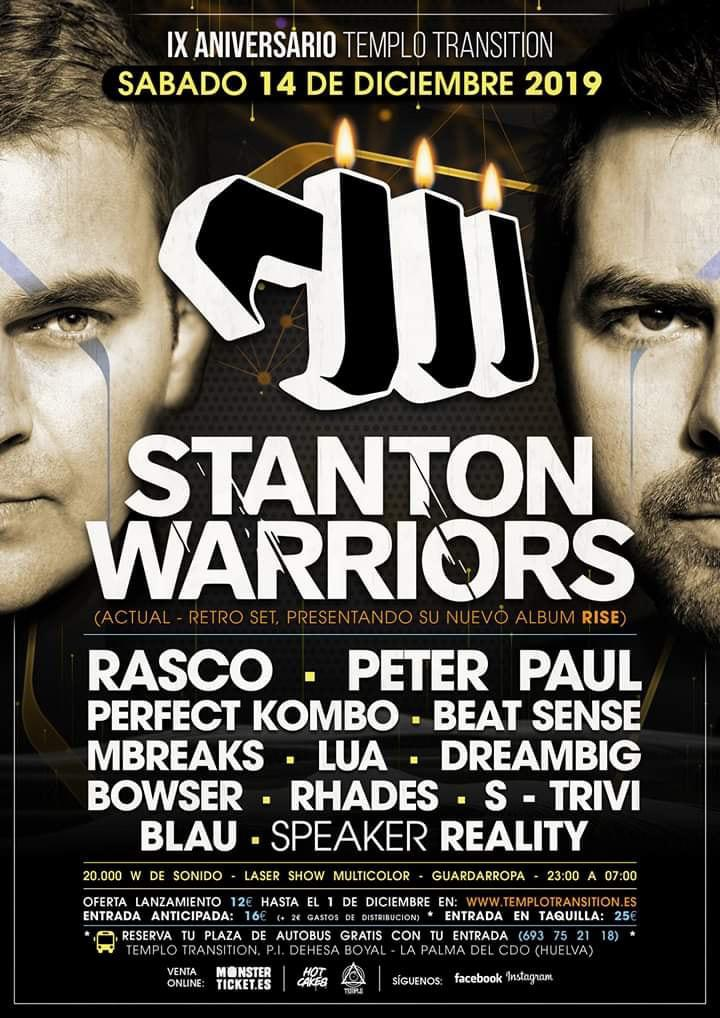 IX Aniv Transition con Stanton Warriors (Entradas y Buses)