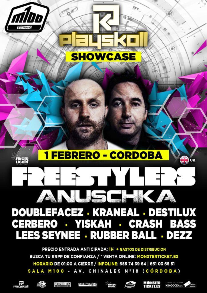 Playskoll Showcase con The Freestylers