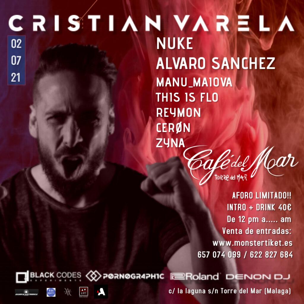 Cristian Varela en Café del Mar